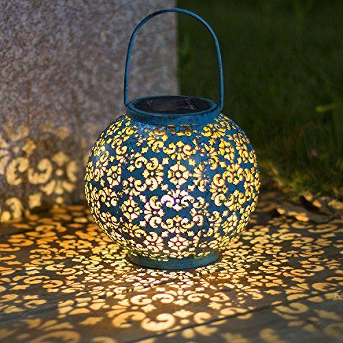 solar lantern hanging garden outdoor lights metal waterproof led table lamp decorative all4hiking com powered lanterns walmart in store