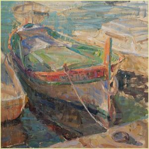 "Derek Penix | ""Summer in St Jean"" I Oil, 24 x 24"""