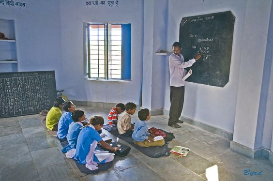 https://flic.kr/p/7iYYzV | Arithmetic class - higher grades - Rural school, Kalakho, Rajasthan | Learning the addition of big numbers. There were three classrooms in this school each for different levels though some classes were intermixed with several levels.
