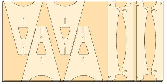 Схема разреза фанеры