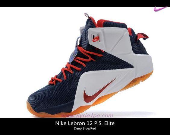 684593-606 Nike Lebron 12 EP Deep Blu/Rosso vendita scarpe sportive