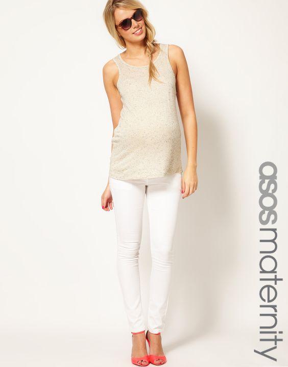 white maternity skinny jeans - Jean Yu Beauty