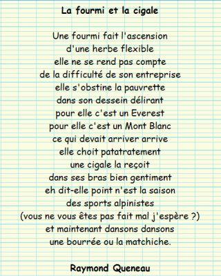 Raymond Queneau - La fourmi et la cigale