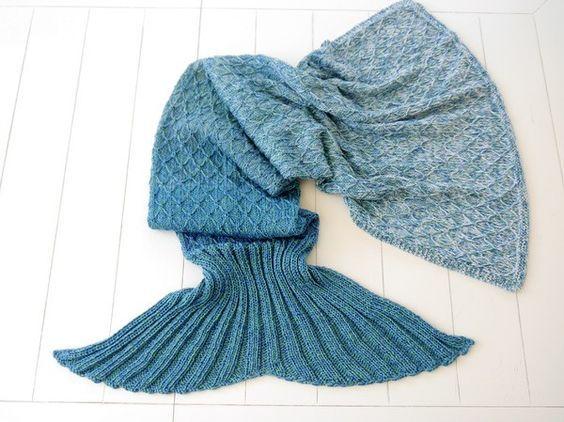 Decke Meerjungfrauenschwanz