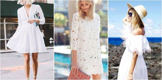 Vestidos blancos para cualquier ocasión, ¡inspírate en el street style!