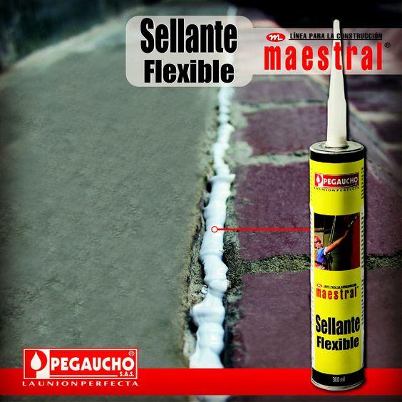 El Sellante Flexible es ideal para cerrar los espacios generados por la dilatación normal entre muros, pisos y fachadas.