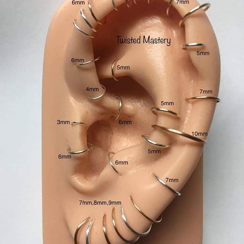 Find Your Perfect Hoop At Twistedmastery Com Quick Link In Bio Free Shipping At Checkout With Orders 5 00 Ear Piercings Ear Piercings Chart Piercing Chart