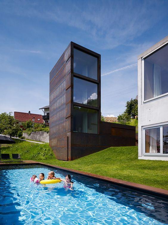Haus, Schwimmbäder and Türme on Pinterest