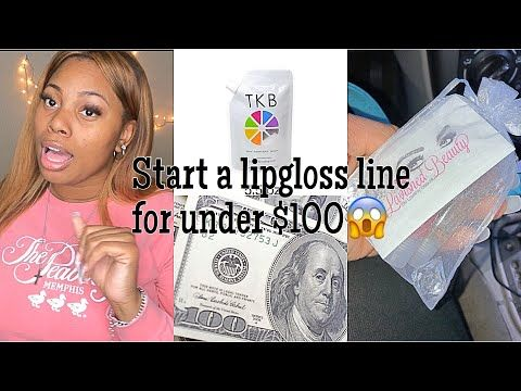 How To Start A Lipgloss Business For Under 100 Become A Girl Boss Starting A Lipgloss Line Youtube Skin Care Business Diy Lip Gloss Lip Gloss