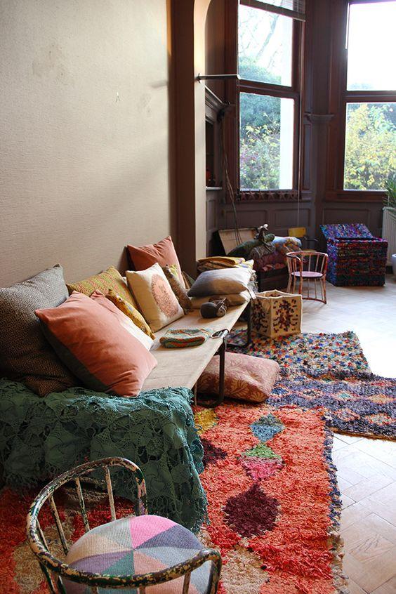 Vente priv e les petits boh mes les happyvintage chaises en bois int rieur boh mien et lits - Vente privee tapis ...