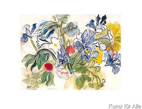 Raoul Dufy - Klatschmohn und Iris