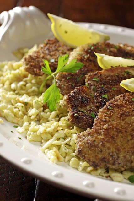 Herb-Speckled Spätzle and Pork Schnitzel.  Do they make this in a gluten-free version?: