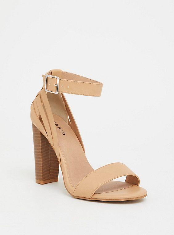 Ankle strap heels, Ankle strap block