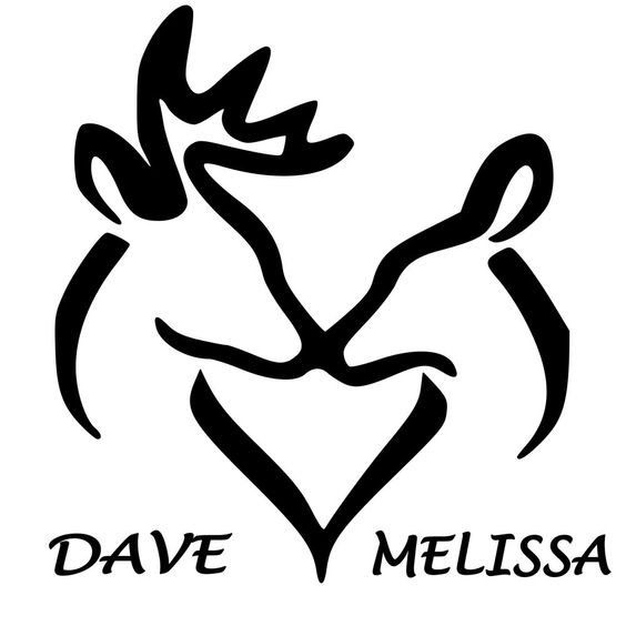 Details about Personalized Buck and Doe Window Sticker ...