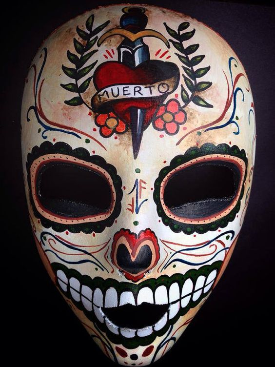 Dia De Los Muertos Mask by nomadical on Etsy, $100.00