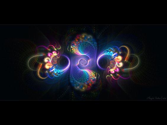 Digital Art Gallery | Abstract digital art gallery / fractal: Angelic Vortex, by love1008