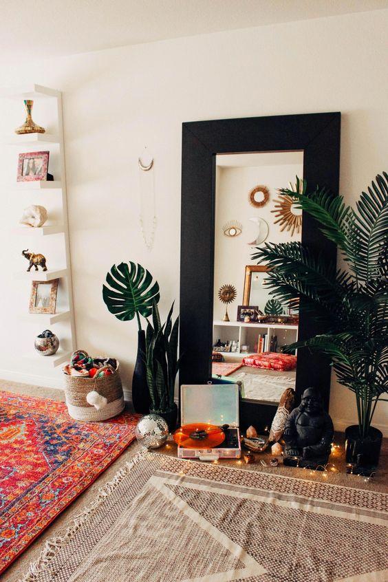 espejos yoga en casa