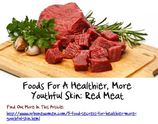 Foods For A Healthier, More Youthful Skin: Red Meat
