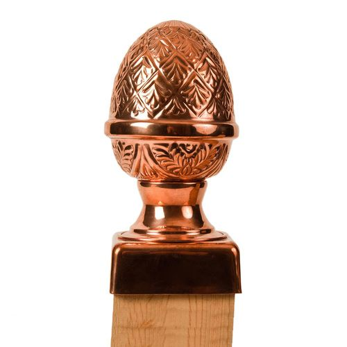 Copper Pineapple Finial Post Cap In 2020 Fence Post Caps Fence Post Post Cap
