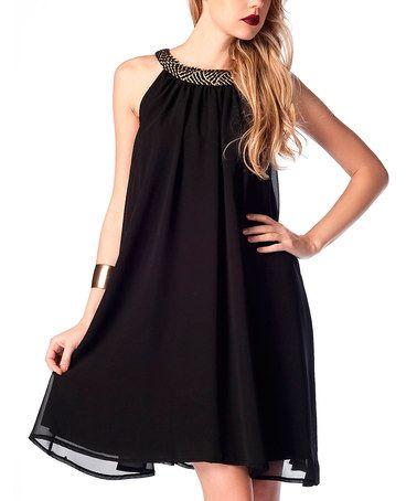 Loving this Black Chiffon Babydoll Dress on zulily! zulilyfinds ...