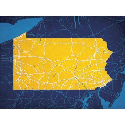 Pennsylvania - City Prints Map Art