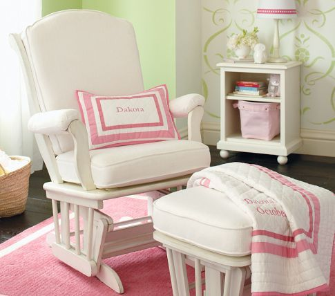 Sleigh Glider Amp Ottoman To Rock Baby To Sleep In Girls