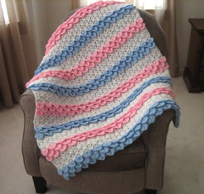 Crochet Baby Blanket Patterns Worsted Weight Yarn : Crocodile Rock Crochet Baby Blanket Crochet baby ...