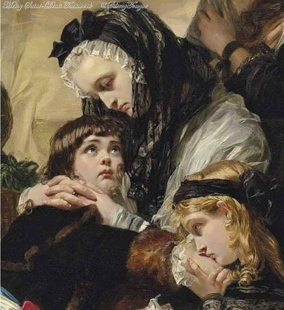 Detail of The Last Parting of Marie Antoinette and her Son by Edward Matthew Ward.: