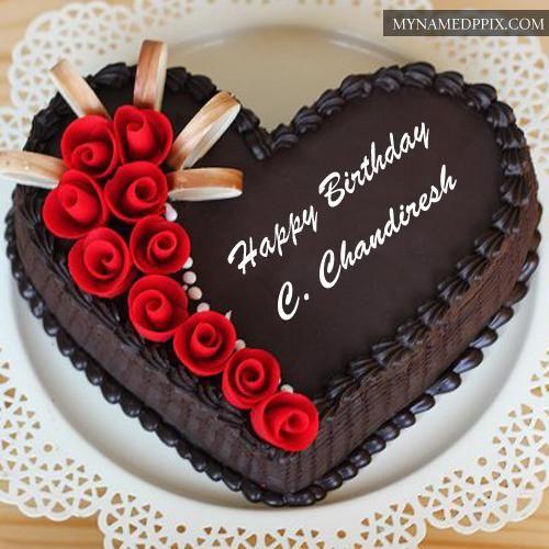 Magnificent Chocolate Yummy Happy Birthday Cake Name Edit Photos Chocolate Personalised Birthday Cards Veneteletsinfo
