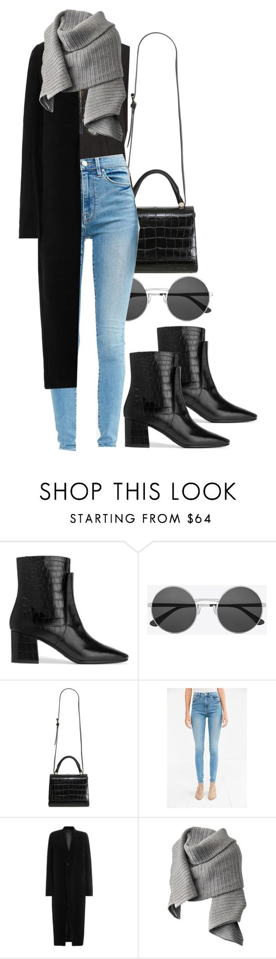 """""""Zeppelin"""" by sincerelyash ❤ liked on Polyvore featuring Givenchy, Yves Saint Laurent, MaxMara, Brandy Melville, BDG, Rick Owens and Acne Studios"""