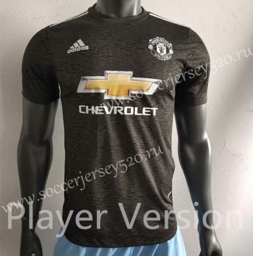 Player Version 2020 2021 Manchester United Away Black Thailand Soccer Jersey Aaa In 2020 Soccer Jersey Manchester United Soccer