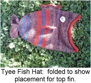 Free Crochet Fish Hat Pattern.