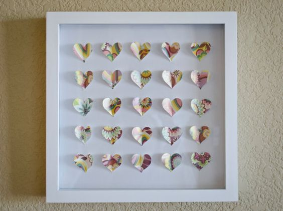 Paper Hearts 3D collage