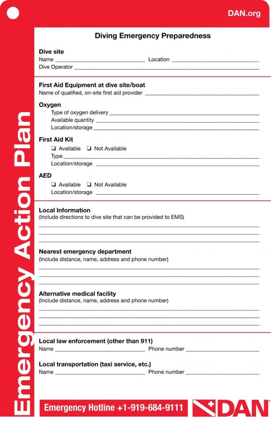 Image result for emergency action plan for scuba diving Aqua - emergency action plan sample