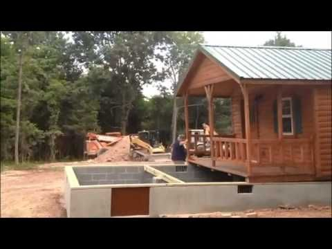 Lincoln 14x40 cabin placement on foundation virginia for Foundation tiny house builders