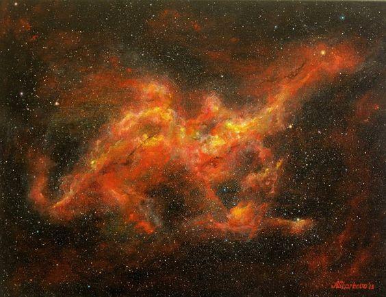 StarkovaGallery - Dragon Nebula painting