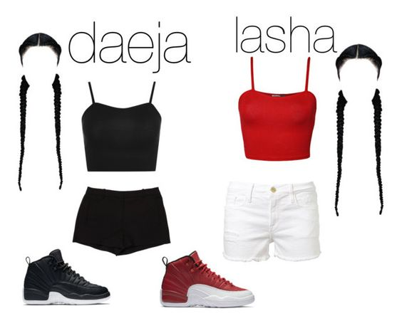 """""""bestie"""" by thegirldaeja ❤ liked on Polyvore featuring WearAll, L'Agence, NIKE and Frame Denim"""