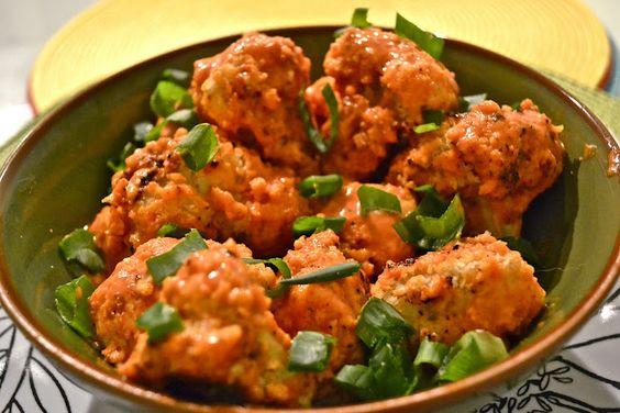 Healthy version of bang bang cauliflower!  She has so many awesome recipes!  #vegan