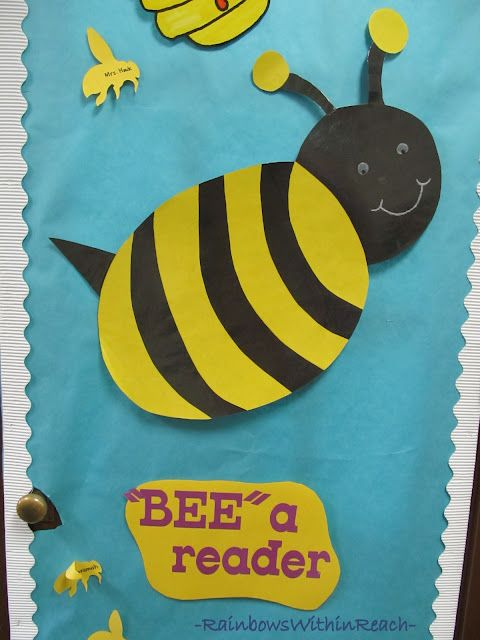 Classroom Decor Bees : Classroom door decorations and bees on