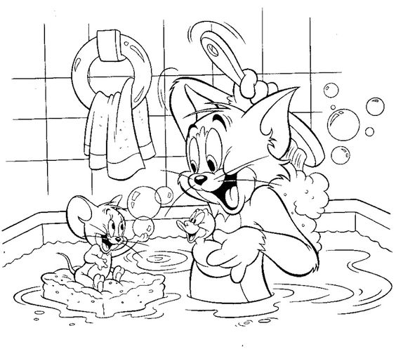 bathroom coloring pages tom and jerry shared bathroom
