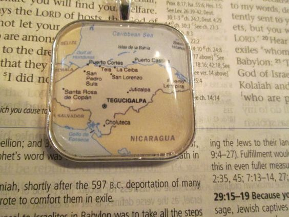 Map of Honduras 35 mm pendant charm by Faithwithoutborders on Etsy