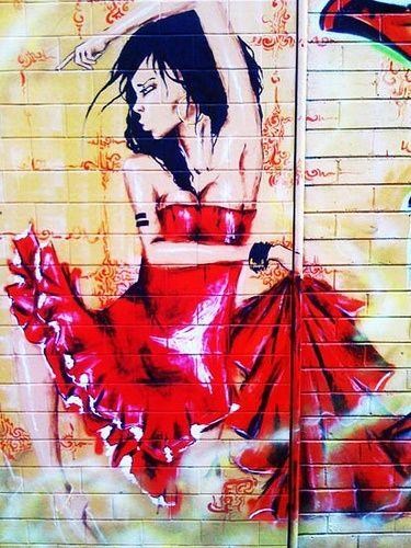 Artist Duvardizayn... flamenco dancing ...