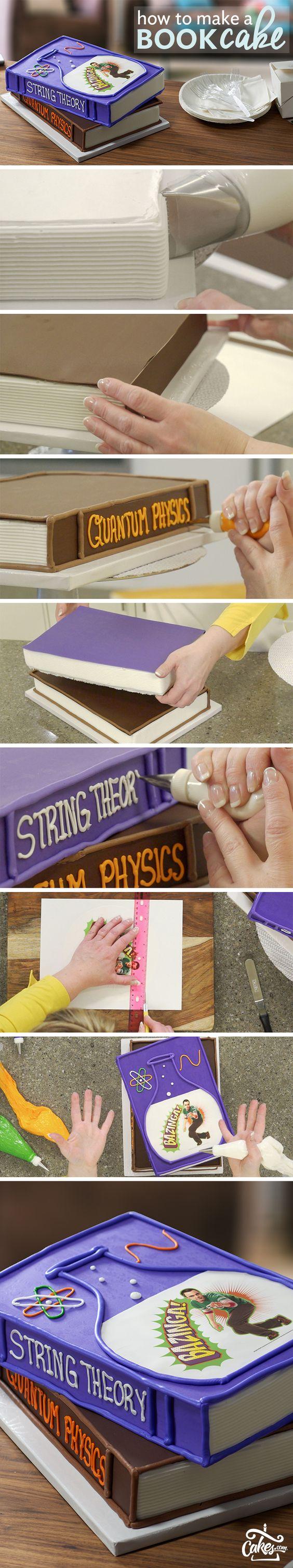 Create the smartest Big Bang Theory Book Cake.