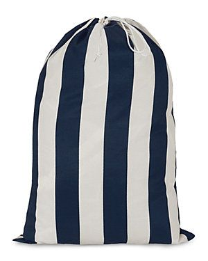 rue la la | vertical stripe laundry bag