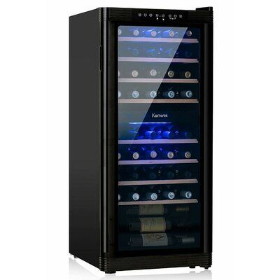 Kuppet 48 Bottles Thermoelectric Wine Cellar Cooler Chiller Refrigerator Freestanding In 2020 Wine Cellar Thermoelectric Wine Cooler Cellar