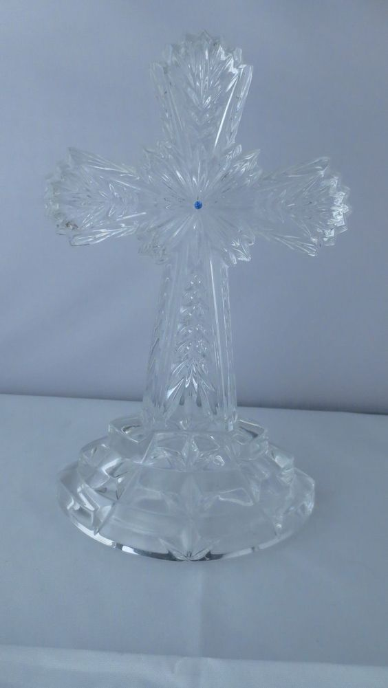 Lenox German Lead Crystal Cross Figurine | eBay