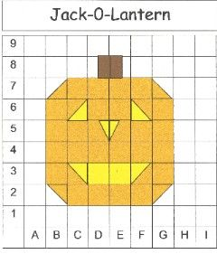 free pumpkin coordinate grid graphing print out this activity to encourage students to color. Black Bedroom Furniture Sets. Home Design Ideas
