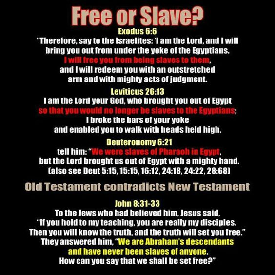 Is slavery wrong even though the bible says it is ok?
