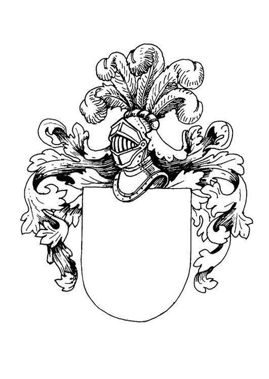 Escudo De Armas Para Colorear Coat Of Arms Coloring Pages Shield Drawing