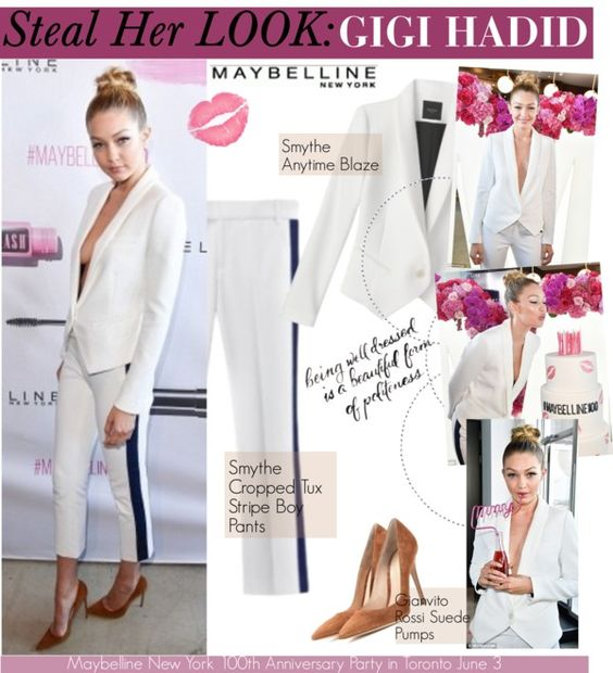 """Maybelline New York 100th Anniversary Party in Toronto June 3 2015"" by swweetalexutza on Polyvore"